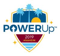 PowerUp 2019 Anaheim Conference Logo
