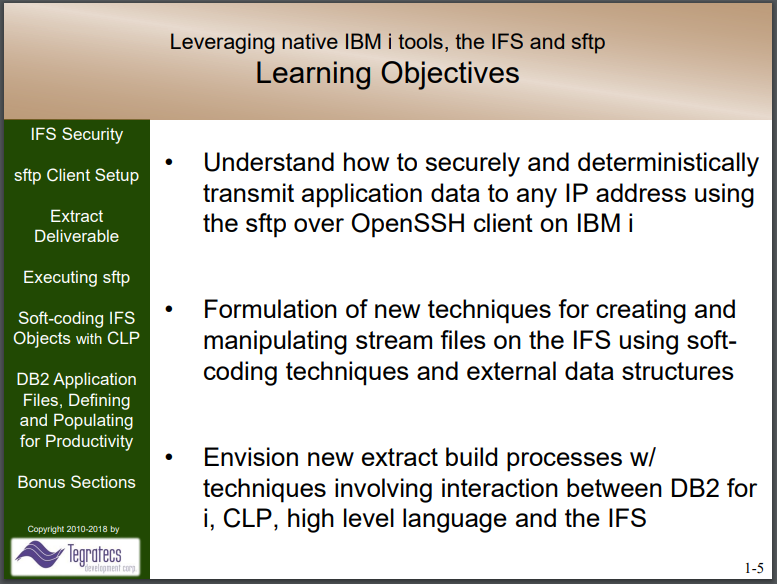 Leveraging IBM i and sftp Presentation Slide 5
