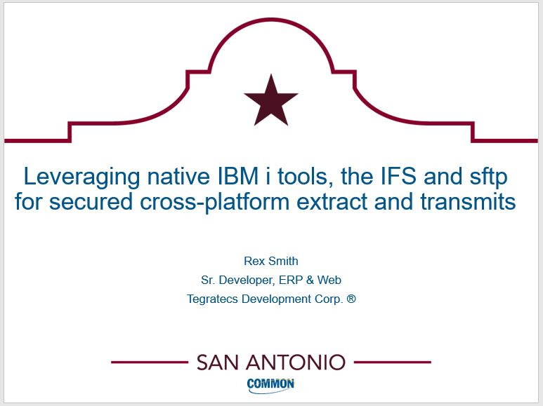 Leveraging native IBM i tools, the IFS and sftp