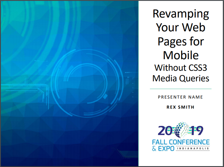 Revamping Your Web Pages Without CSS3 Media Queries presentation